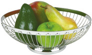 APS Tischkorb, oval ca. 20 x 15 cm Edelstahl 18/8, stapelbar, spülmaschinenfest, ideal für Obst und Brötchen
