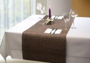 APS Tischläufer - beige, braun, PVC, Schmalband, 45 x 150 cm