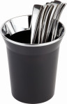 APS Tischreste- / Besteckbehälter, SAN, schwarz,, Ø 13 cm, H: 15 cm