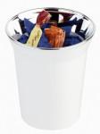 APS Tischreste- / Besteckbehälter, SAN, weiß, Ø 13 cm, H: 15 cm