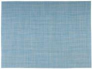 APS Tischset aus Kunststoff, 45 x 33 cm, Platzset, Tellerunterleger, Schmalband, hellblau/weiß,