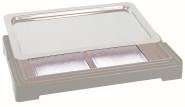 APS Top Fresh Set -New Generation- 4-tlg., 56,5 x 35 cm, H 6,5 cm Kühlbox aus weissem Kunststoff GN 1/1 Tablett, 2 Kühlakkus