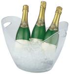 APS Wein- und Sektkühler aus Kunststoff, oval, seitliche Eingriffe, 35 x 27 x 25,5 cm, 6 Liter
