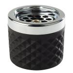 APS Windascher, Ø 9,5 cm, H: 8 cm, aus Glas, in matt-schwarz