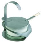 """APS Zucker/ Parmesan Menage """"Pro"""" m. Löffel, aus Edelstahl, Ø 10,5 x 13 cm, mattiert"""