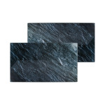 AXENTIA 2er Pack Glas Schneidbretter mit Stein Dekor, Maße je Schneidbrett: 52 x 30 cm, Stärke 0,4 cm, rutschhemmende Füße, Herd Abdeckplatte