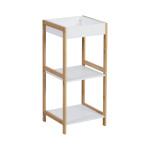 AXENTIA Bambus-Regal mit 3 Böden aus MDF, 30 x 65 x 28,5 cm, Aufbewahrungsregal für Wohnzimmer, Schlafzimmer, Kinderzimmer