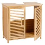 AXENTIA Bambus Waschbecken-Unterschrank, 60 x 58 x 30 cm, Badezimmer Schrank für Handtücher, Putzutensilien/-mittel u. Reinigungsmittel