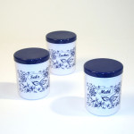 AXENTIA Dekordosen-Set 3 x 1,10 Liter Zwiebelmuster