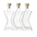 AXENTIA Glasflaschen Persiflage 3 Stück a 200 ml 15 mm Kor Ersatzkorken 292090
