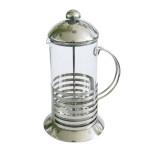 AXENTIA Kaffee- und Teebereiter 1000 ml Glas und Edelstahl