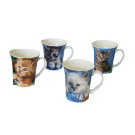 "AXENTIA Kaffeebecher ""Katzenkinder"" New bone China Porz."