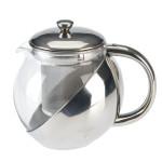 AXENTIA Teekanne, Glaskanne 1,2 l mit Edelstahleinsatz