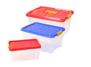 AXENTIA Unibox-Set, Stapelboxen, Universalboxen, Spielzeugkisten in 3 verschiedenen Größen, 5 Liter, 15 Liter und 27 Liter, Set von Danto®