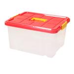 AXENTIA Unibox mit Deckel, mittiger Griff, Stapelbox, Universalbox, Aufbewahrungskiste, Spielzeugbox,  44 x 35 x 24 cm, 27 Liter