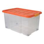 AXENTIA Universalbox aus Kunststoff, m. Deckel und Rollen, 60 x 40 x 34 cm, 55 Liter