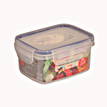2 Stück AXENTIA Vorratsdosen Airproof, Gefrierdosen, Frischhaltedosen, Multifunktionsboxen 0,48 Liter, rechteckig, 13,5 x 10,5 x 6,5 cm, Set by Danto®