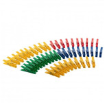 AXENTIA Wäscheklammern Kunststoff, extra stark, farbig sortiert 50 Stück