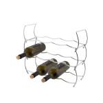 AXENTIA Weinregal für 12 Flaschen, 43 x 42 x 15 cm, verchromter Stahldraht, 3-tlg. Weinregal, modular erweiterbar, leichtes und stabiles Flaschenregal