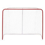 "BASE Streethockey Tor 54"", 137 x 112 x 50 cm, Freizeit Hockey Tor aus Metall, rot, Hockeygoal"