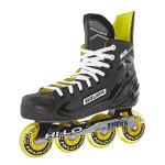 BAUER Inlinehockey Skate RS SR R 82A, Gr 6.0 EU40.5, Microfaser Liner, Thermoformbar, Anatomical Foam Padding, HI-LO Steel Chassis, ABEC 5 Bearing