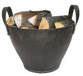 Benta Gummikorb, Kaminkorb, Feuerholzkorb, Brennholzkorb, aus recycelten Altreifen, verfügbar in verschiedenen Größen