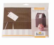 Birkmann Geschenkkarton, Geschenkverpackung für 1 Cupcake, aus Pappe