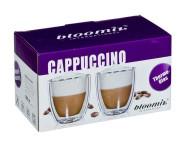 bloomix 2er Set Cappuccino Grande Gläser, 250 ml, doppelwandig in transparent