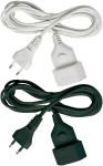 brennenstuhl Verlängerungs-Kabel 5m H03VVH2-F2X0,75 schwarz Eurostecker und Eurokupplung