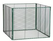 BRISTA Komposter grün/verzinkt 100 x 100 x 80 cm