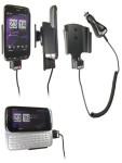 Brodit Autohalterung aktiv für HTC Touch Pro 2 T7373 (Rhodium 100), mit Zigaretten-Anschluss-Stecker