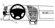 Brodit Proclip passend für Citroen Xsara, 98-04 Lüftungsschlitze Links