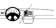 Brodit Proclip passend für Daihatsu Charade 94-05 Lüftungsschlitze Mitte