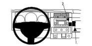 Brodit Proclip passend für Dodge Dakota 2WD, 08-09 Konsole oben