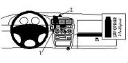 Brodit Proclip passend für Isuzu Trooper, 97-04 Lüftungsschlitze Mitte
