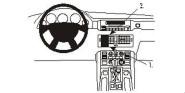 Brodit Proclip passend für Land Rover Range Rover, 03-06 Lüftungsschlitze Mitte