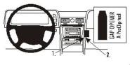 Brodit Proclip passend für Lincoln Navigator, 03-06 Konsole Mitte