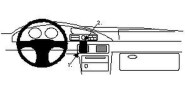 Brodit Proclip passend für Mazda Millenia 95-02 Lüftungsschlitze Mitte