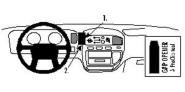 Brodit Proclip passend für Mitsubishi Space Gear 95-05 Lüftungsschlitze Mitte