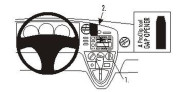 Brodit Proclip passend für Pontiac Vibe, 03-08 Lüftungsschlitze Mitte