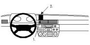 Brodit Proclip passend für Puch G4x4 79-88 Lüftungsschlitze Mitte