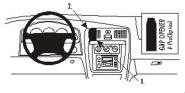 Brodit Proclip passend für Toyota 4Runner 00-02 Lüftungsschlitze Mitte