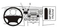 Brodit Proclip passend für Toyota 4Runner 03-09 Lüftungsschlitze Mitte