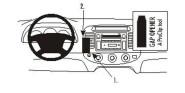 Brodit Proclip passend für Toyota Camry, 02-06 Lüftungsschlitze Mitte