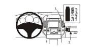 Brodit Proclip passend für Toyota Corolla Verso, 04-09 Konsole Mitte