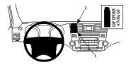 Brodit Proclip passend für Toyota Highlander, 08-09 Lüftungsgitter Mitte