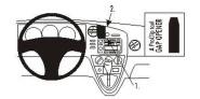 Brodit Proclip passend für Toyota Matrix, 03-04 Lüftungsschlitze Mitte