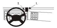 Brodit Proclip passend für Volvo FL6, 00-06 Lüftungsschlitze Mitte