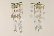 Capiz-Windspiel, Mobile, Fensterspiel, Balkondekoration, Perlmuttwindspiel, aus Perlmutt, Länge 40 cm