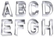 Contacto Ausstecher BUCHSTABEN Alphabet (26 Stück), groß, aus Weißblech